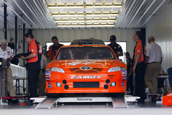 Car of Joey Logano, Joe Gibbs Racing Toyota at technical inspection