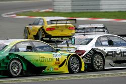 Jamie Green, Team HWA AMG Mercedes C-Klasse, Martin Tomczyk, Audi Sport Team Phoenix Audi A4 DTM