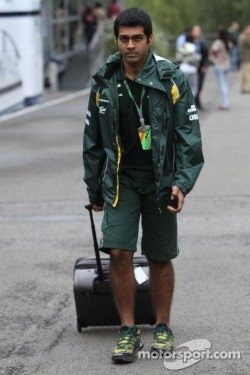 Karun Chandhok, test driver, Lotus F1 Team