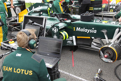 Lotus engineer with a laptop