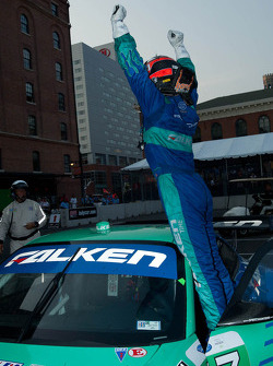 Bryan Sellers celebrates his GT class win