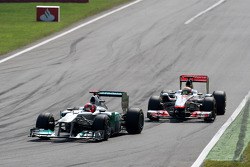 Michael Schumacher, Mercedes GP F1 Team, Lewis Hamilton, McLaren Mercedes