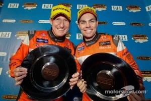 Race winners Craig Lowndes and Mark Skaife