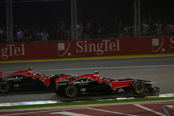Jerome d'Ambrosio, Marussia Virgin Racing y Timo Glock, Marussia Virgin Racing
