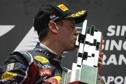 Podium: Sieger Sebastian Vettel, Red Bull Racing