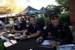 Petit Le Mans pre-race party: Duncan Ende, Spencer Pumpelly, Peter Ludwig