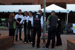 Petit Le Mans pre-race party: Peugeot team arrives
