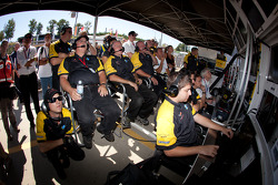 Corvette Racing pit area
