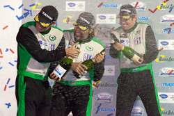 GTC podium: class winners Tim Pappas, Jeroen Bleekemolen and Sebastiaan Bleekemolen