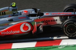 Jenson Button was the fastest man during the first practice session