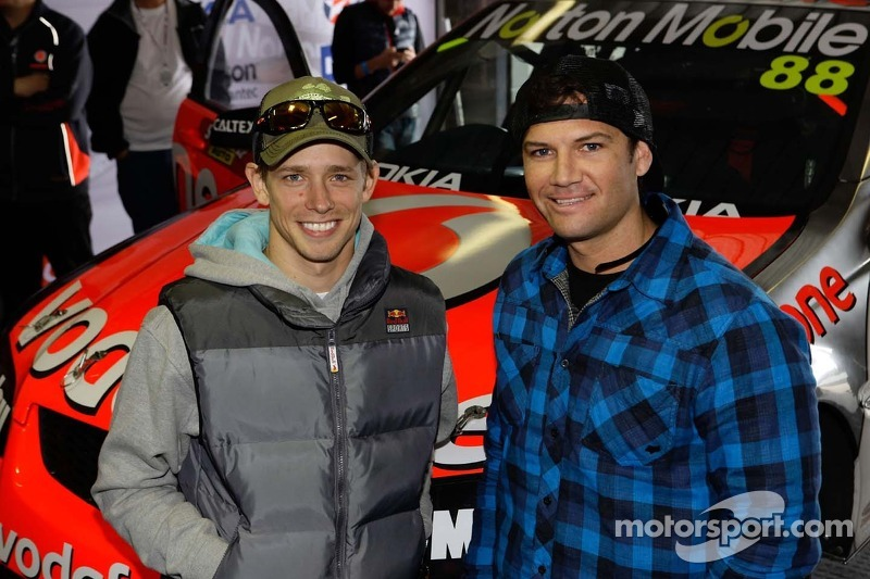 MotoGP champion Casey Stoner and motocross champion Chad Reed visit Bathurst