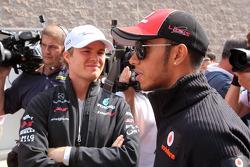 Nico Rosberg, Mercedes GP Petronas F1 Team and Lewis Hamilton, McLaren Mercedes
