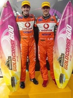 Podium: race winners Sébastien Bourdais and Jamie Whincup