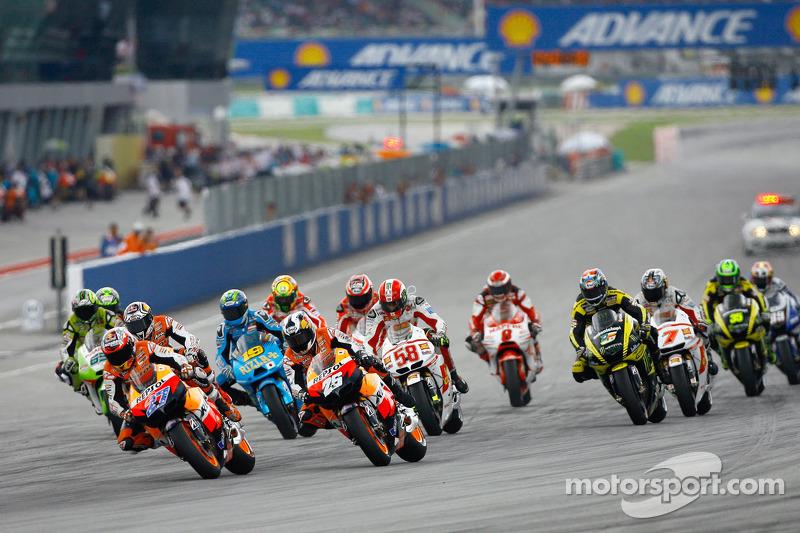 Start in Malaysia: het begin van zijn laatste race
