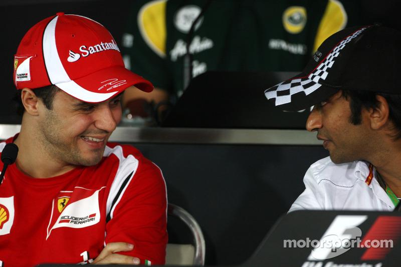 Felipe Massa, Scuderia Ferrari, Narain Karthikeyan, Hispania Racing F1 Team, HRT