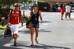 Felipe Massa, Scuderia Ferrari and his wife
