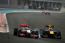 Mark Webber, Red Bull Racing and Jenson Button, McLaren Mercedes