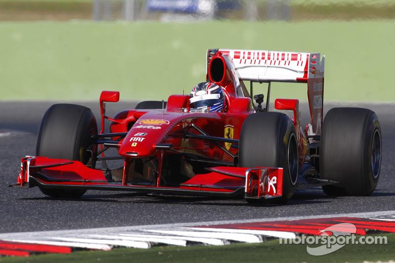 Michael Lewis tests a Ferrari F1