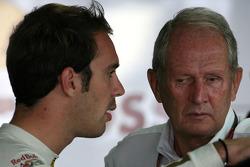 Jean-Eric Vergne, Test Driver, Scuderia Toro Rosso  and Helmut Marko, Red Bull Racing, Red Bull Advisor