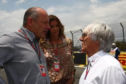 Ron Dennis with Bernie Ecclestone
