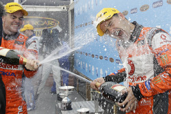 Podium: Craig Lowndes and Jamie Whincup celebrate