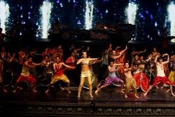 Indian dancers entertain the audience at the Kingdom of Dreams