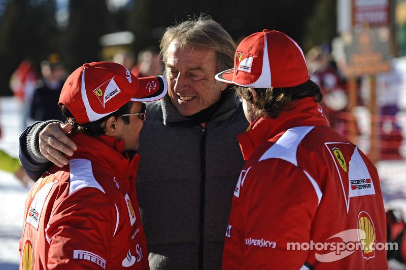 Fernando Alonso, Luca di Montezemolo en Felipe Massa
