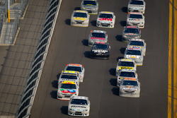Carl Edwards, Roush Fenway Racing Ford leads the pack