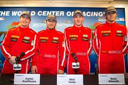 Momo NGT Motorsport press conference: Henrique Cisneros, Carlos Kauffmann, Nick Tandy and Sean Edwards