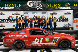 GS podium: class and overall winners Billy Johnson and Jack Roush Jr., second place Charles Espenlaub and Charles Putman, third place Mark Boden and Bryan Sellers
