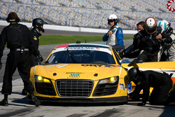Pit stop for #74 Oryx Racing Audi R8 Grand-Am: Humaid Al Masaood, Saeed Al Mehairi, Steven Kane