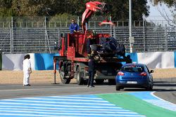 Daniel Ricciardo, Scuderia Toro Rosso stopt op circuit