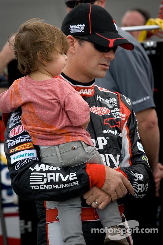 Jeff Gordon, Hendrick Motorsports Chevrolet met zoon Leo Benjamin