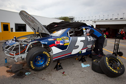 Damaged car of Kasey Kahne, Hendrick Motorsports Chevrolet