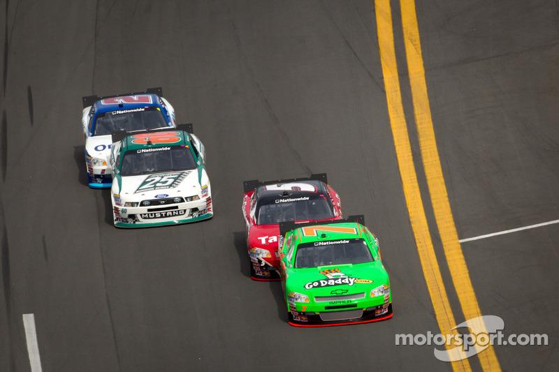 Danica Patrick, JR Motorsports Chevrolet leads Dale Earnhardt Jr., JR Motorsports Chevrolet