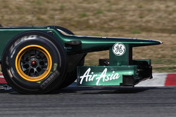 Caterham F1 Team front wing and nose cone