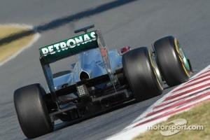 Michael Schumacher, Mercedes GP rear wing