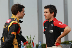 Jérôme d'Ambrosio, Lotus Renault F1 Team with Timo Glock, Marussia F1 Team