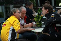 Jean-Francois Caubet, Managing director of Renault met Christian Horner, Red Bull Racing, Sporting Director