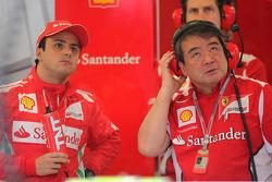 Felipe Massa, Scuderia Ferrari with  Hirohide Hamashima, Scuderia Ferrari