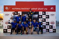 الفائز بالسباق: جوش فايلز، لاب57 موتورسبورت، هوندا سيفيك تي سي آر مع الفريق