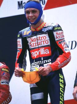 Podium: winner Valentino Rossi, Aprilia