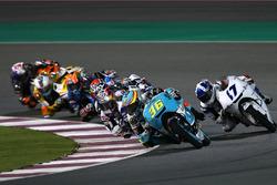 Joan Mir, Leopard Racing; John McPhee, British Talent Team; Jorge Martin, Del Conca Gresini Racing Moto3