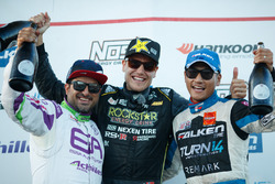 Podium: race winner Fredric Aasbo, second place Michael Essa, third place Daijiro Yoshihara