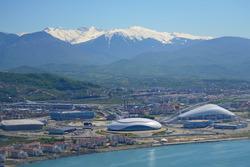 Вид на Олимпийский парк и «Сочи Автодром»