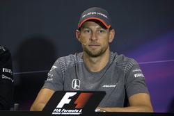 Jenson Button, McLaren  en la Conferencia de prensa