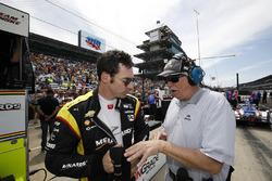 Simon Pagenaud, Team Penske, Chevrolet; Robin Miller