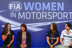 Marta Garcia, Renault Sport F1 Team Sport Academy, Michelle Mouton, Tatiana Calderon, Sauber and Monisha Kaltenborn, Team Principal and CEO, Sauber, at a Women in Motorsport Press Conference