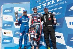 Podyum: Yarış galibi Adam Lacko, Freightliner, 2. Steffi Halm, MAN, 3. Norbert Kiss, Mercedes