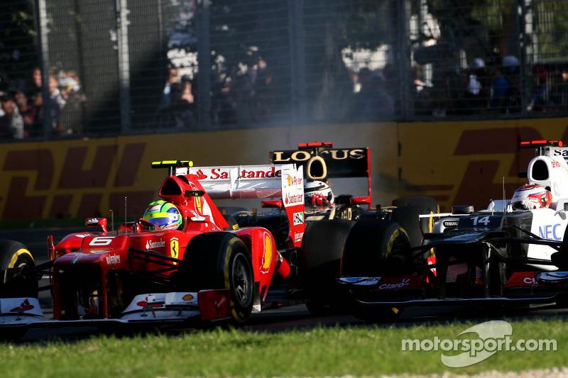 Felipe Massa, Scuderia Ferrari and Sergio Perez, Sauber F1 Team